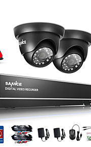 sannce 1.0MP 720p 4 kanaals hd 4 in1 tvi h.264 dvr in / outdoor cctv bewakingscamera ingebouwde 1TB hdd