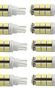 t10 geleid auto lamp 12V DC lezen / deur / kentekenverlichting koel / warm wit (10 stuks)