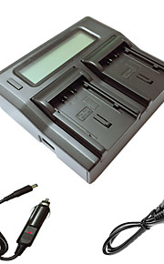 ismartdigi VBN130 260 lcd dubbele lader met auto-oplaadkabel voor Panasonic VBN130 260 camera batterys