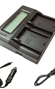 ismartdigi LPE5 lcd dubbele lader met auto-oplaadkabel voor canon eos 500d 1000d 450d camera batterys
