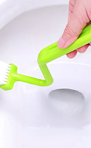 Wholesale Hot Portable Toilet Brush Scrubber V-type Cleaner Curved Closestool Cleaning Brush Bent Bowl Handle(Random Color