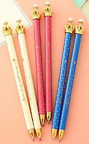 Kuglepen Pen Kuglepenne Pen,Plastik Tønde Blå Blæk Farver For Skoleartikler Kontorartikler Pakke med