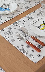 Kvadrat Print / Mønstret / Blomster Bordskånere , Bomulds Blanding Materiale Hotel Dining Table / Tabell Dceoration