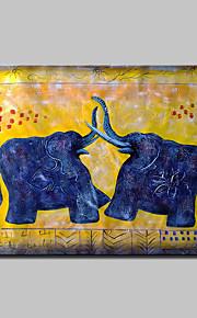 手描きの 動物 ポップアップ 油彩画,Modern 1枚 キャンバス ハング塗装油絵 For ホームデコレーション