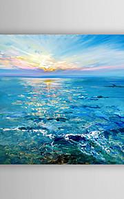 手描きの 抽象的な風景画 横長,Modern 1枚 キャンバス ハング塗装油絵 For ホームデコレーション