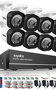 sannce 8-kanaals 720p ahd dvr hdmi 8 stuks 720p ir nachtzicht outdoor cctv camera binnenlandse veiligheid systeem van toezicht kits