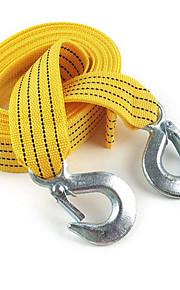 3 M Strong Fluorescent Car Trailer Rope / Traction Rope 3 Tons Of Strength