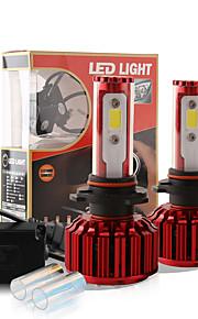 2016 nye 9005 HB3 h10 9140 9145 60W 6000lm cob chip førte forlygte konvertering kit 2 farver 5000K yale gul 6000K hvid pærer lampe par