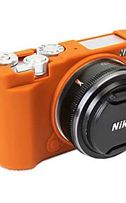 Digitale Camera-Hoes- voorNikon-Eén-schouder- metStofbestendig-Zwart Bruin