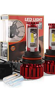2016 nye 9004 HB2 120w 10000LM cob chip førte forlygte konvertering kit 2 farver 5000K yale gul 6000K hvid pærer lampe par