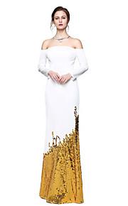 TS Couture® Formel aften Kjole - Glitrende Berømmelse stil Tube / kolonne Stropløs Gulvlang Pailletter Jerseystof med Paillette Plissé