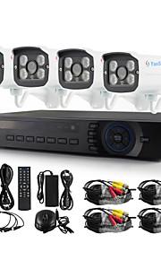 yanse® 4ch ahd waterdichte bedrade dvr kit 720p HD IR nachtzicht beveiliging CCTV-systeem 1200tvl