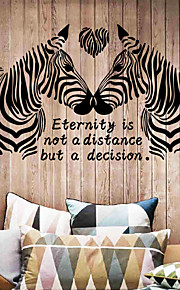 Love Zebra Wall Stickers Fashion Creative Bedroom Living Room Wall Stickers DIY Removable Wall Decals Home And Garden