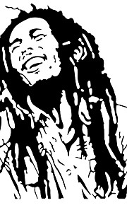 Bob Marley Wall Stickers Famous Actor Character/Figure Wall Decals Home Decor