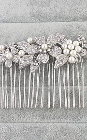 Damen Strass Künstliche Perle Kopfschmuck-Hochzeit Besondere Anlässe Haarkämme 1 Stück