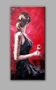 手描きの 抽象画 人物 縦長,Modern 1枚 キャンバス ハング塗装油絵 For ホームデコレーション