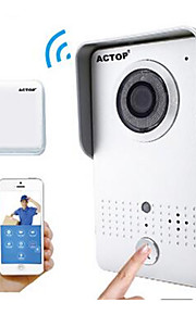 actop smart home sikkerhed wifi video doorbell intercom alarmfunktion suppot ios og Andriod wifi602