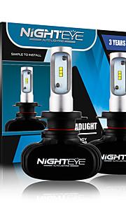 nighteye 2 pc / lampadina del faro auto pannocchia anabbagliante portato fari 50w 8000LM 6500K auto sostitutiva luce anteriore