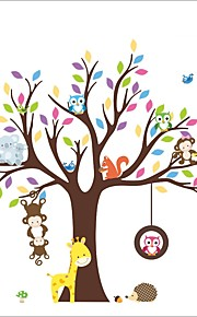 ZOOYOO® Animal and Tree Removable Wall Stickers Window Sticker Art Decals Mural DIY Wallpaper for Room Decal