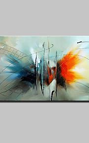手描きの 抽象画 動物 横長,Modern 欧風 1枚 キャンバス ハング塗装油絵 For ホームデコレーション