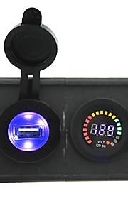 12v geleid digitale display voltmeter en 2.1a usb adapter met huisvesting houder paneel voor auto boot truck rv