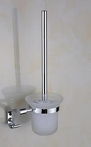 Toilet Brushes & Holders Modern Round Stainless Steel