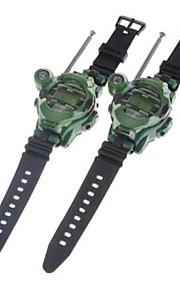 un paio di stile orologio divertente walkie-talkie libero talker con sette funzione (verde)