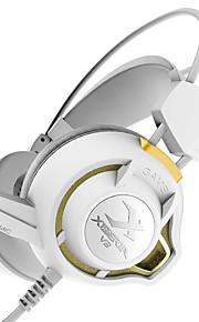xiberia v3 trillingen gaming koptelefoon op ear LED verlichting stereo headset pc gamer computer super bass gloed koptelefoon met