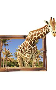 Animales De moda 3D Pegatinas de pared Calcomanías de Aviones para Pared Calcomanías 3D para Pared Calcomanías Decorativas de Pared,Vinilo