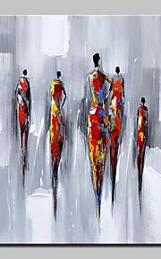 手描きの 抽象画 人物 縦長,Modern 欧風 1枚 キャンバス ハング塗装油絵 For ホームデコレーション