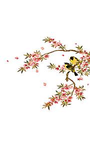 Животные ботанический Мода Наклейки Простые наклейки Декоративные наклейки на стены,Винил материал Украшение дома Наклейка на стену