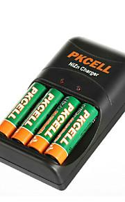 pkcell 2500mwh 8186 aa 1.6V nikkel-zink batterij 300mAh 4 Pack