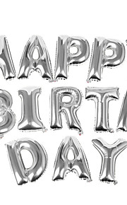 40 Inch Silver Alphabet Letter Balloon Beter Gifts® Happy Birthday Party Decoration