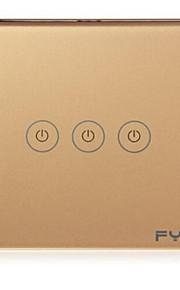 FYW hjem røre remote kontakt 3 bande intelligent styring mur på