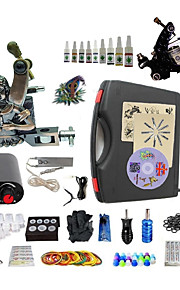 Complete Tattoo Kit S023G2A2Z14 2 Machines Liner & Shader Mini Power Supply Ink Cups