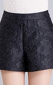 Damen Übergrössen Breites Bein Kurze Hosen Hose-Ausgehen Lässig/Alltäglich Sexy Niedlich Druck Bestickt Hohe Hüfthöhe Reisverschluss