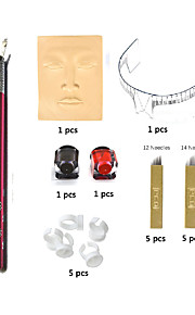Microblading Permanent Makeup Eyebrow Tattoo Needle Pen Ink Practice Skin Kit BasekeyC1