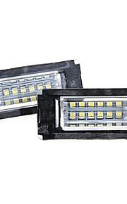 2 x hvid 18 førte nummer nummerplade lys lampe pære til BMW Mini R56