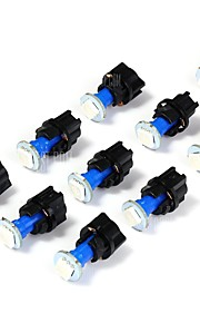 10stk t5 0.5W 5050 1smd ledet instrument lampe blå farve