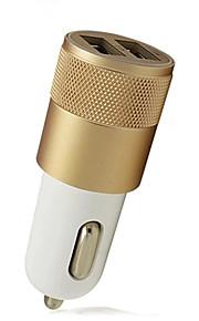 Bil USB oplader Socket 2 USB-porte Kun oplader Bil 5V/2.1A