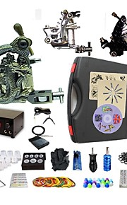 Complete Tattoo Duron III 3 Machines With Digital Power Supply  Liner & Shader Inks