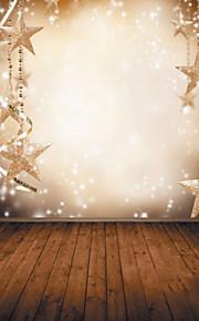 1.5 x 2,1 vinyl baggrund klud fotografering jul fantasy snefnug stjerner