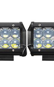 2x 30w ha condotto il lavoro bar luce 4wd fuori strada posto flood nebbia ATV SUV di guida posto lampada led spento ute crogiolo di camion