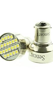 1156 BA15s 24x3528smd warm / warm witte auto lamp licht rem / draai / tail / achteruit dc12-16v