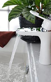 עכשווי ארט דקו / רטרו מודרני סט מרכזי תרמוסטטי מקלחת גשם spary Wide with  שסתום קרמי חור ידית אחת אחת for  צביעה , חדר רחצה כיור ברז
