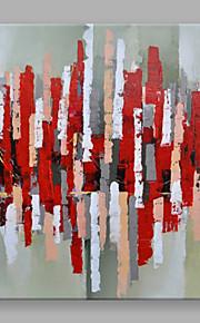 手描きの 抽象画 四角形,Modern 1枚 キャンバス ハング塗装油絵 For ホームデコレーション