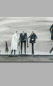 手描きの 抽象画 横長,Modern 1枚 キャンバス ハング塗装油絵 For ホームデコレーション