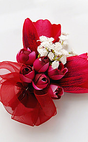 פרחי חתונה בצורה חופשיה ורדים שושנים פרחי דש חתונה חתונה/ אירוע סאטן