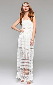 Gaine / colonne scoop longueur de cheville robe de mariée en dentelle avec dentelle drapée