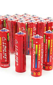 Lingli aa cardon zink batteri 1.5V 40 pack